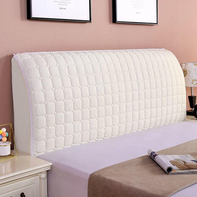 1 قطعة غطاء السرير الأبيض دسم سميكة لينة السرير ينتشر مرونة اللوح الأمامي واقية غطاء السرير ديكور المنزل 1.5 1.8 متر غطاء أريكة