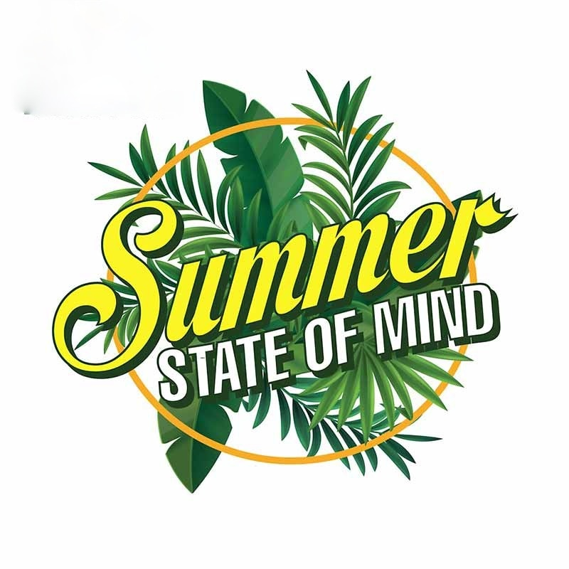 Car Stickers Decor Motorcycle Decals Summer State of Mind Decorative Accessories Creative Sunscreen