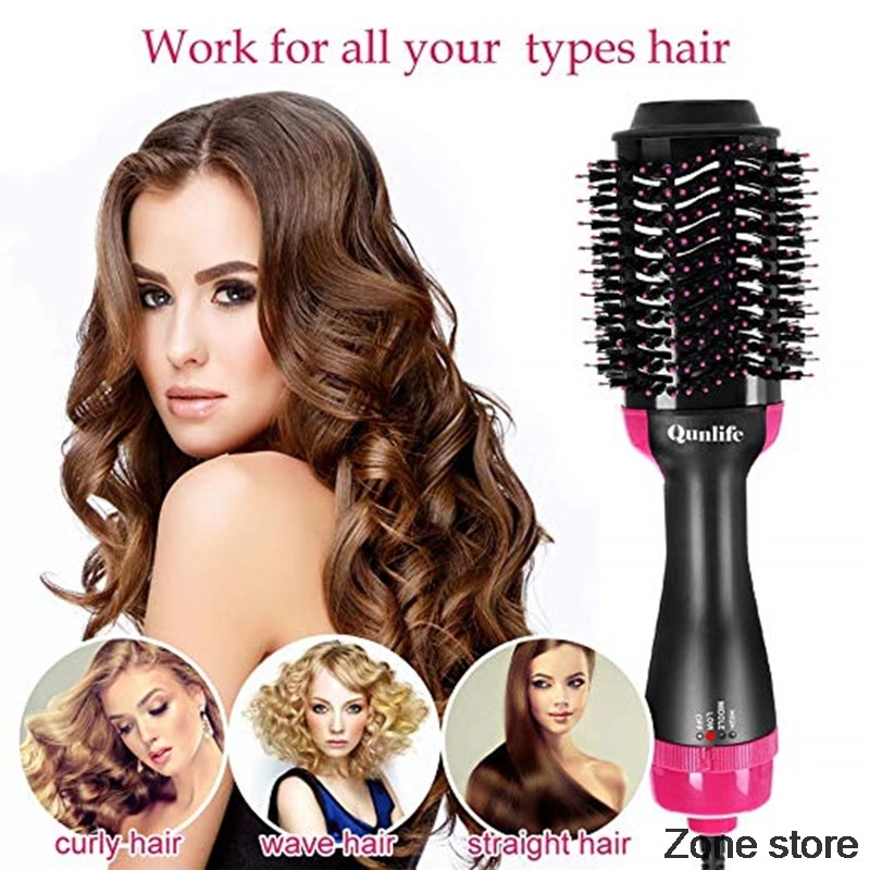 2 in 1 hair dryer brush electric hot comb ionic hair brush blow blow hair drayer volumizer curler dry hair straightener brush