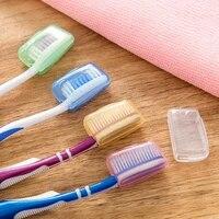 Etui pour brosse a dents en plastique  5 pieces  housse pour brosse a dents Portable  voyage de randonnee  Camping  voyage daffaires  fournitures de salle de bain a domicile