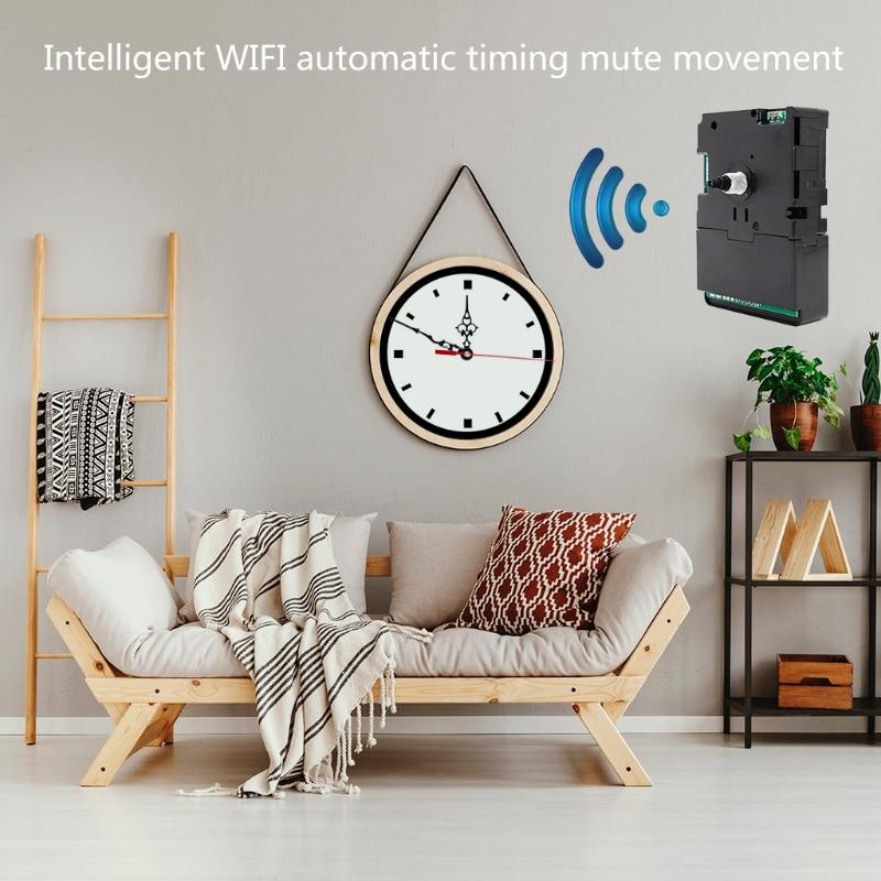 DIY Smart Wifi Clock Movement Automatic Time Adjustment Mute Movement Kits Home Clocks Decorations Accessory