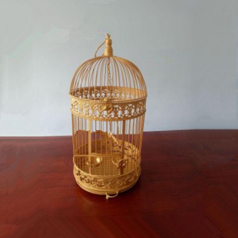 1 Uds. Jaula decorativa de hierro para pájaros, trucha para loro de myna, acacia para tigre de myna, jaula para pájaros de faisán