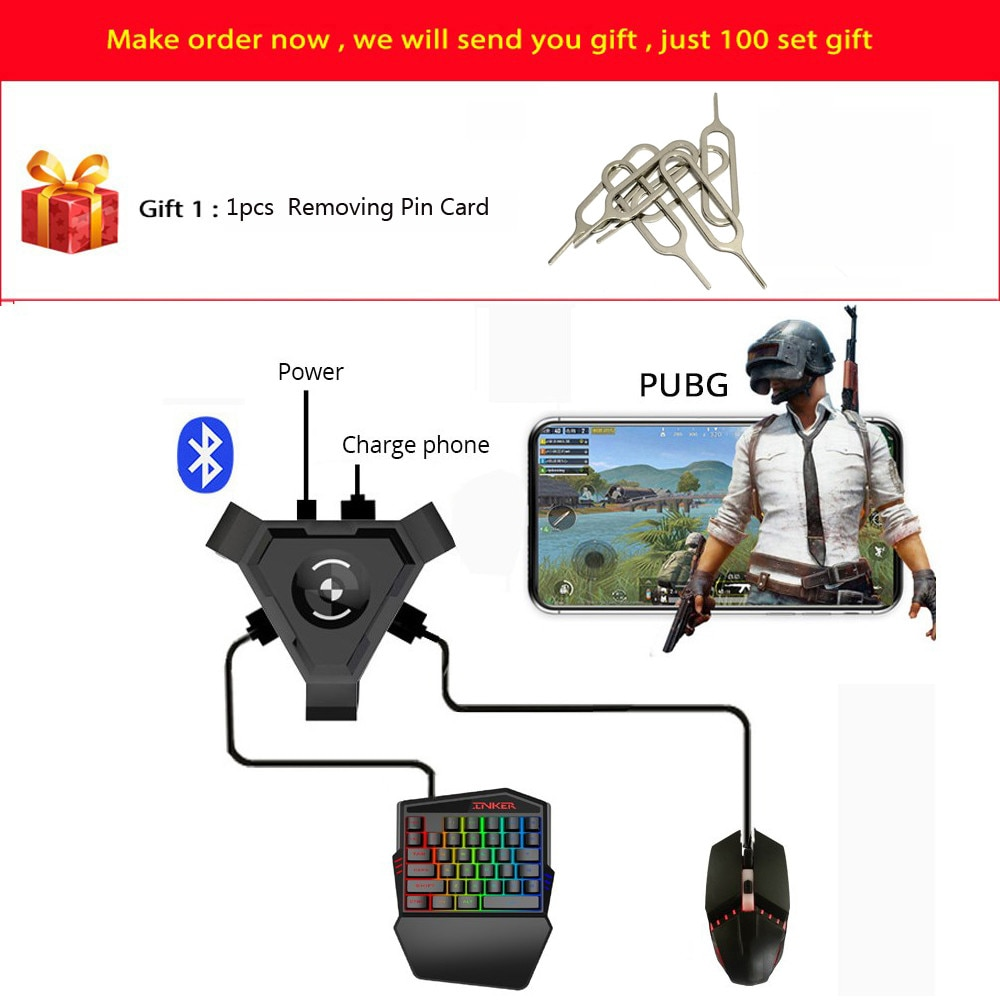 AliExpress - PUBG Mobile Gamepad Controller Gaming Keyboard Mouse Converter For Android ios Phone IPAD Bluetooth 4.1 Adapter Free Gift