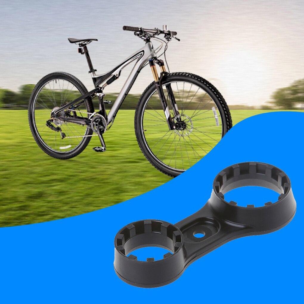 1 pièces clé de bicyclette fourche avant clé outil de réparation Double tête vélo pièces accessoires fourche avant réparation outil démontage clé