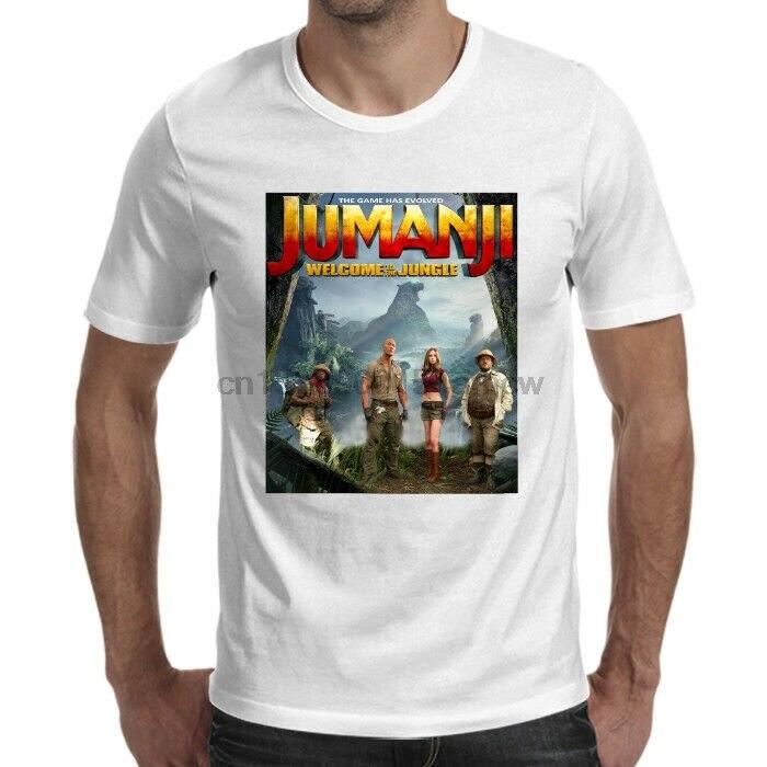 Cartel de película Jumanji 2017 camiseta blanca tamaño S-5XL