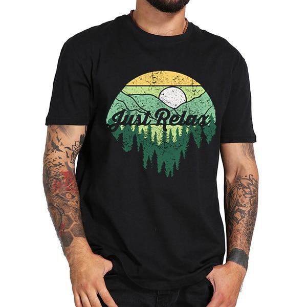 Просто ослабьте 2019 футболка для мужчин и мальчиков, модные ботфорты крутые забавные летние футболки с коротким рукавом из хлопка
