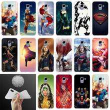 silicone Phone case Cover Supergirl man steel FOR Coque Samsung Galaxy J6 J4 J8 J7 2018 Plus J3 J5 J7 Prime Pro 2017 2016 Casse