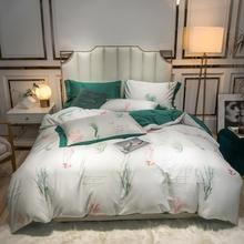 Bohemian Style Paisley Damask Medallion Print Egyptian Cotton Sateen Soft 4Pcs Queen King size Bedding Set Bed Sheet Pillowcase