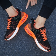 Flying woven Men Sneakers 2021 spring new sports shoes breathable cushion running shoes 36-46 plus s