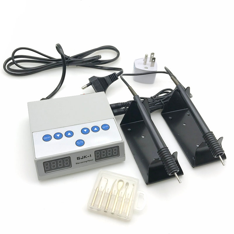 Máquina de tallado de cuchillos de Cera Fina eléctrica de laboratorio Dental de alta calidad doble pluma 6 puntas de cera para recipiente