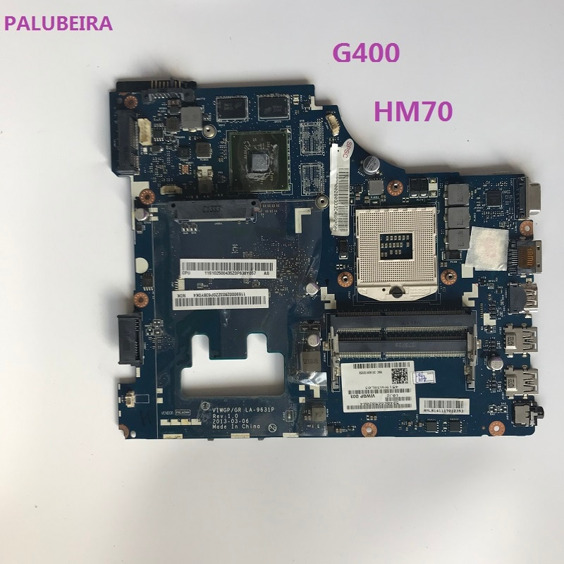 PALUBEIRA envío gratis placa base para portátil para Lenovo G400 LA-9631P con 4 fichas de vídeo tarjeta gráfica HM70 100% probado completamente