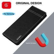 Étui en cuir véritable de luxe pour Samsung Galaxy Note 8 9 10 S20 Ultra S7 S8 S9 S10 Plus E téléphone housse de protection complète