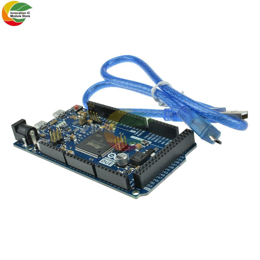 بسبب R3 مجلس SAM3X8E 32 بت ARM Cortex-M3 لوحة تحكم وحدة مع المصغّر USB كابل ل Arduino تيار مستمر 3.3 -5 فولت