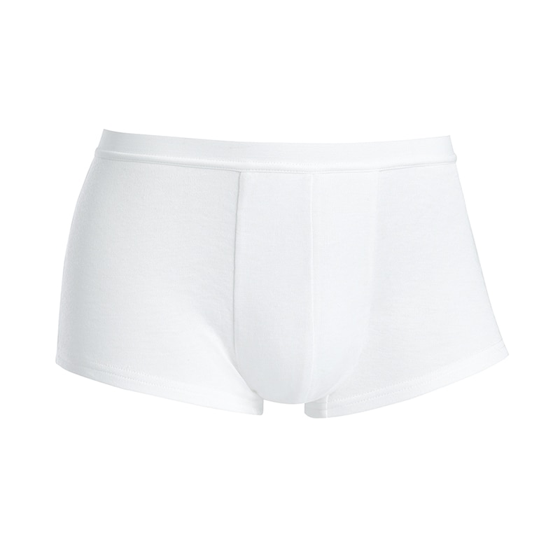 Men Underwear White Breathable Briefs Male High-Elastic Antibacterial Sports Shorts
