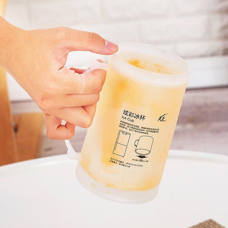 Tasse bière glace colorée dété   400ml, tasse tasse café thé lait tasses de voyage, tasses et tasses PP Double couche, cadeau créatif C1266 e