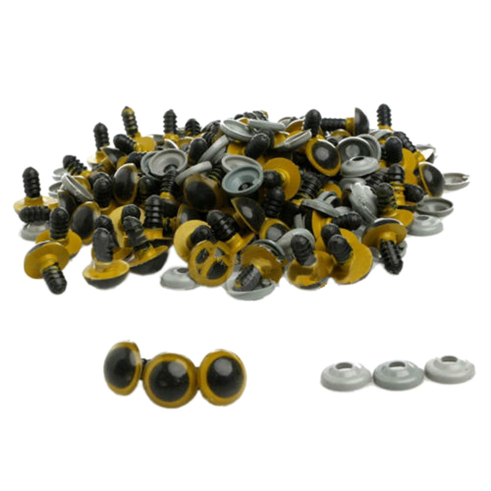 8mm 100 Pcs/lot Plastic Safety Eye Beads For Teddy Bear Animal For Diy Jewelry Accessories Findings Handmade Craft Making