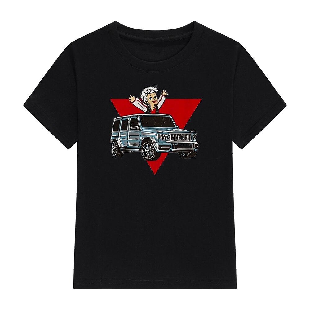 Kids 100% Cotton T Shirts Merch A4 Gelik Print Casual Family Clothing Children's Fashion Tops