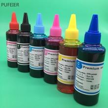 6 pièces x 100ML T0481-T0486 Encre À Base de Colorant Pour Epson R200 R220 R300 R300M R320 R340 RX500 RX600 RX620 Imprimante À Jet Dencre