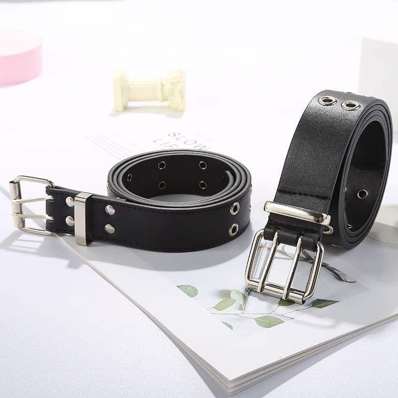 New Fashion Classic Square Buckle Ladies Wide Belt Women's 2020 Design High Quality Female Casual Le