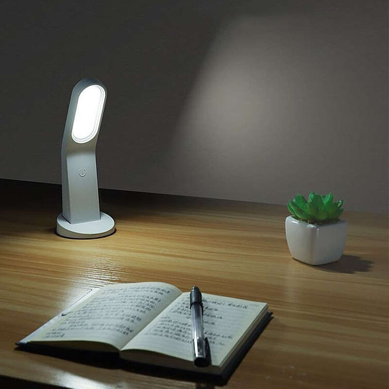NEW ABS Portable 45° Curved USB Magnetic LED Reading Night Light Lamp Save Space Touch Switch Dimmable ночники светильник