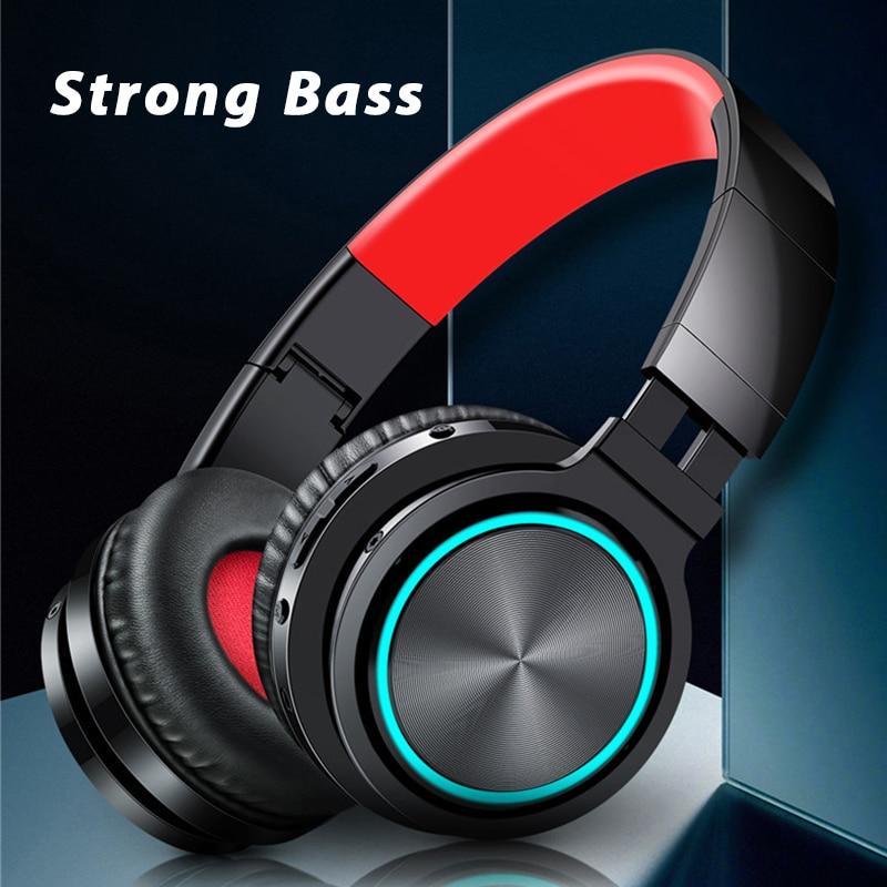 هيمبر سماعات لاسلكية سماعة الألعاب ثلاثية الأبعاد الصوت المحيطي بلوتوث-متوافق مع سماعات الأذن مع 40 مللي متر وحدة كبيرة صدمة باس