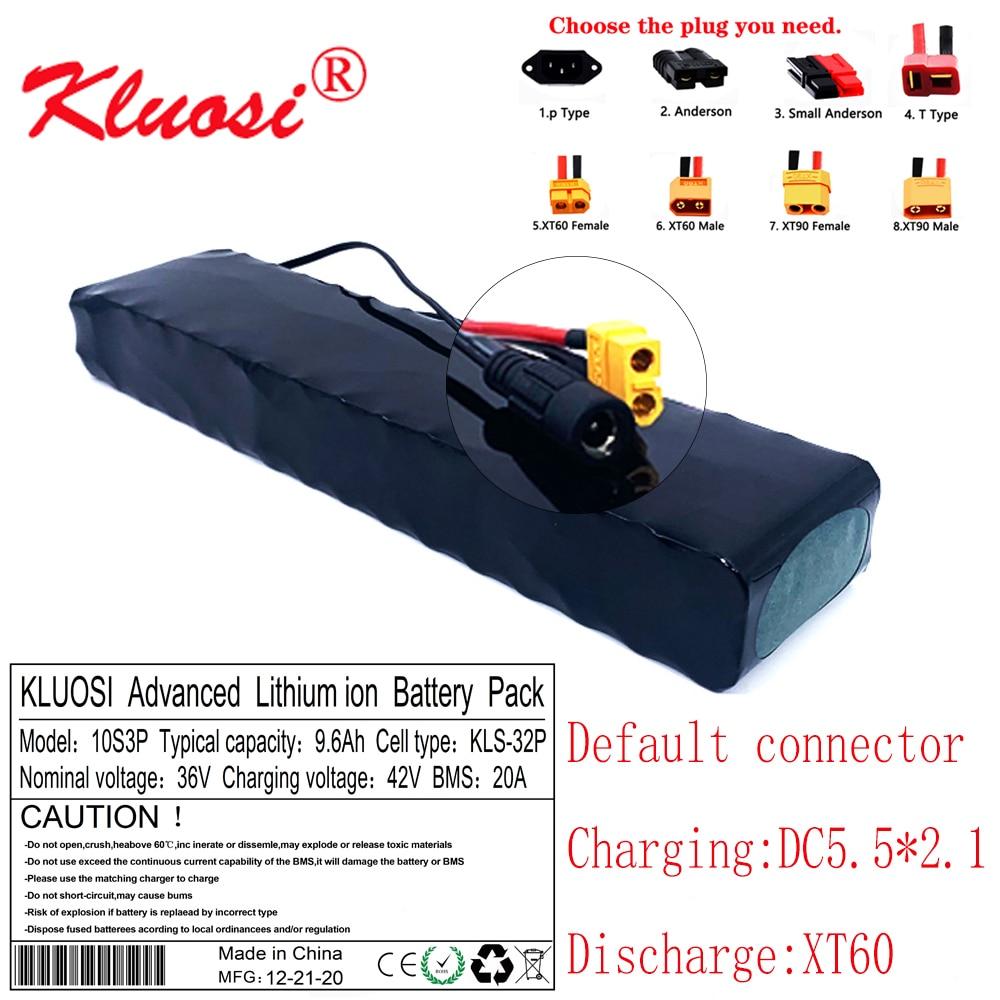 KLUOSI-بطارية ليثيوم 10S3P 36V ، 9.6ah ، 10ah ، 36V ، 42V ، لـ Xiaomi Mijia M365 Pro ، مع BMS 20a
