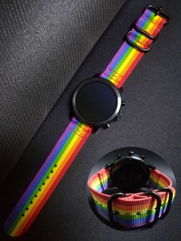 Браслет Pride для Huami Amazfit GTR 47 мм 22 мм, нейлоновый ремешок для Huawei Watch GT2, Samsung Gear Sport S3 Galaxy Watch 46 мм Ремешки для часов      АлиЭкспресс