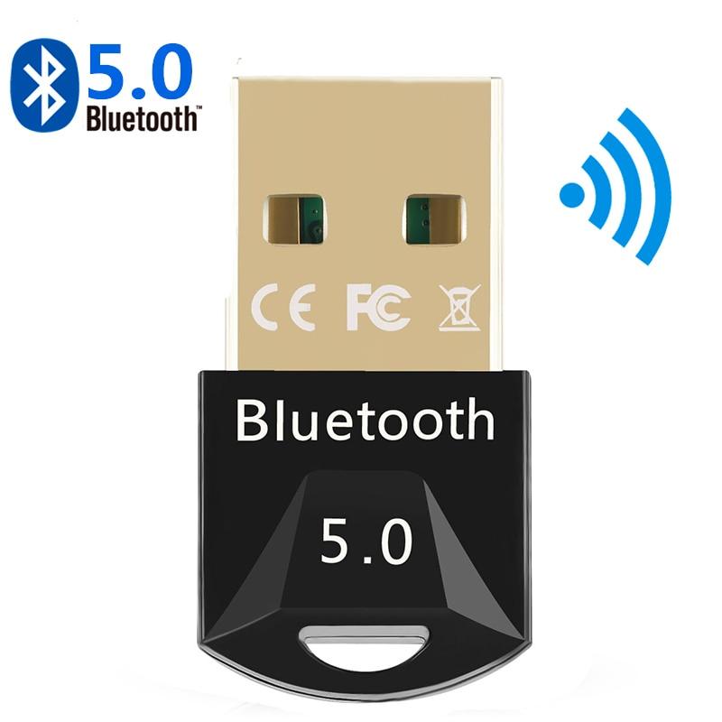 Mini USB Bluetooth Transmisor Receptor 5,0 Adaptador Dongle aptx inalámbrica auriculares PC...