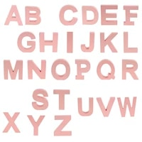 wooden pink 26 alphabet letters marquee letters wall door hanging sign a z for kids room nursery room decorations