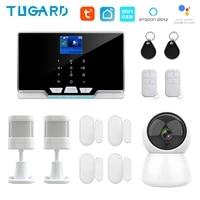 G20 Model Tuya WIFI GSM Home Alarm System 433Mhz Wireless House Security Burglar Alarm Kit 1080P IP Surveillance Camera System