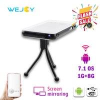 Wejoy DL-S6 Mini Smart Portable LED Projector DLP Android Pico Pocket Cinema Mobile Projetor For подарок proyector para celular
