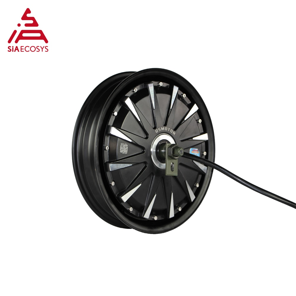 QSMotor 12inch 1000W 260 V1.12 72V45kph low power BLDC motor with EM50SP controller in wheel hub motor kitrsfor electric scooter enlarge