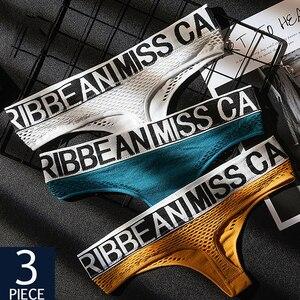 3Pcs/set Letter Belt Sexy Hollow Out Lingerie Seamless Women's Panties Set Underwear Temptation Low-rise G-String Fmale Briefs