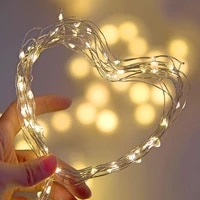 fairy light 2m 20 led starry string battery powered lights fairy micro led transparent wire for party christmas wedding decor