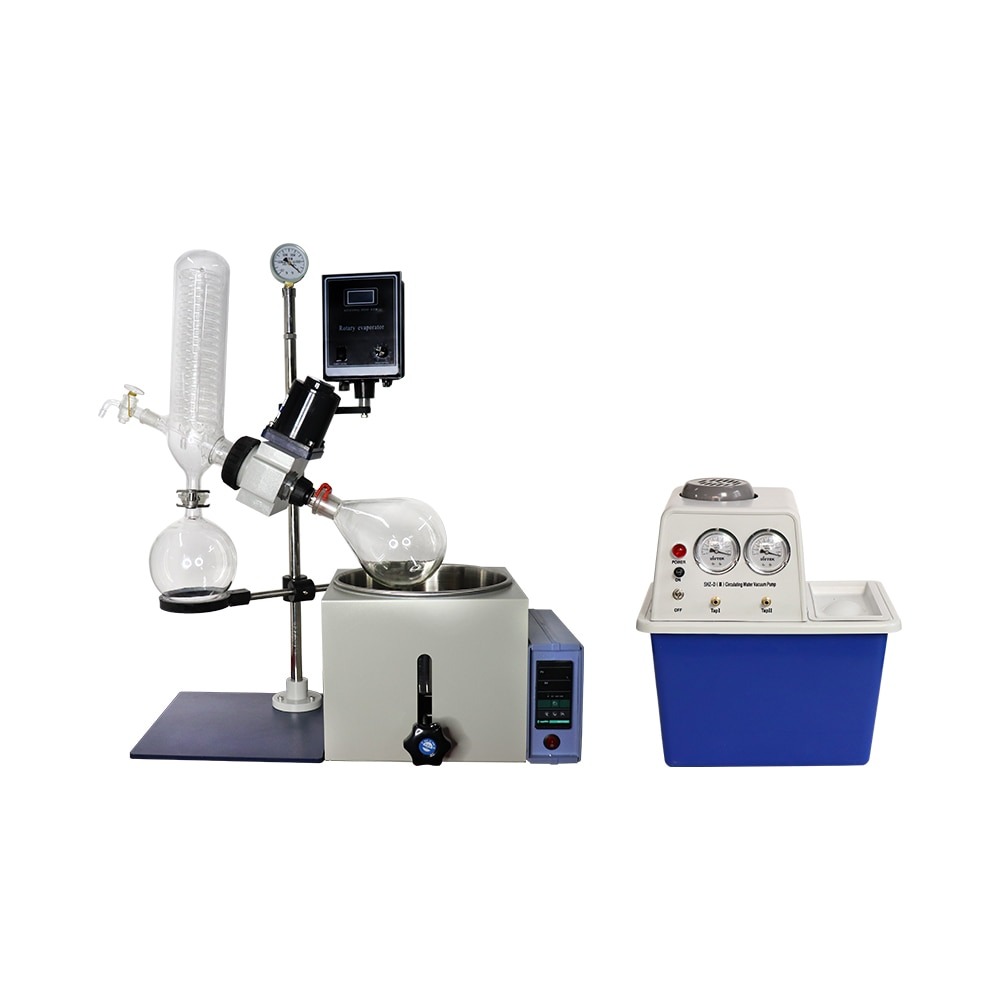 ZOIBKD Best Quality Laboratory RE-201D Small Volume Rotary Evaporator 0.25- 2L Vacuum Decompression Extraction Distiller Machine