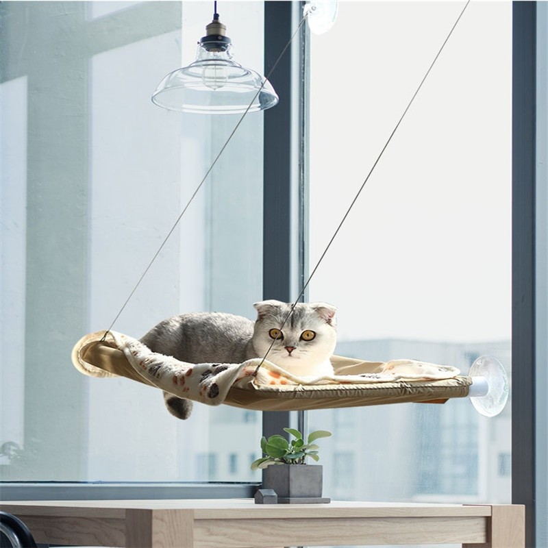 1 hamaca para gatos, asiento soleado, ventana de montaje, cama para gatos, alfombrilla para gatos, cómodas camas colgantes para mascotas, accesorios para gatos, suministros para mascotas