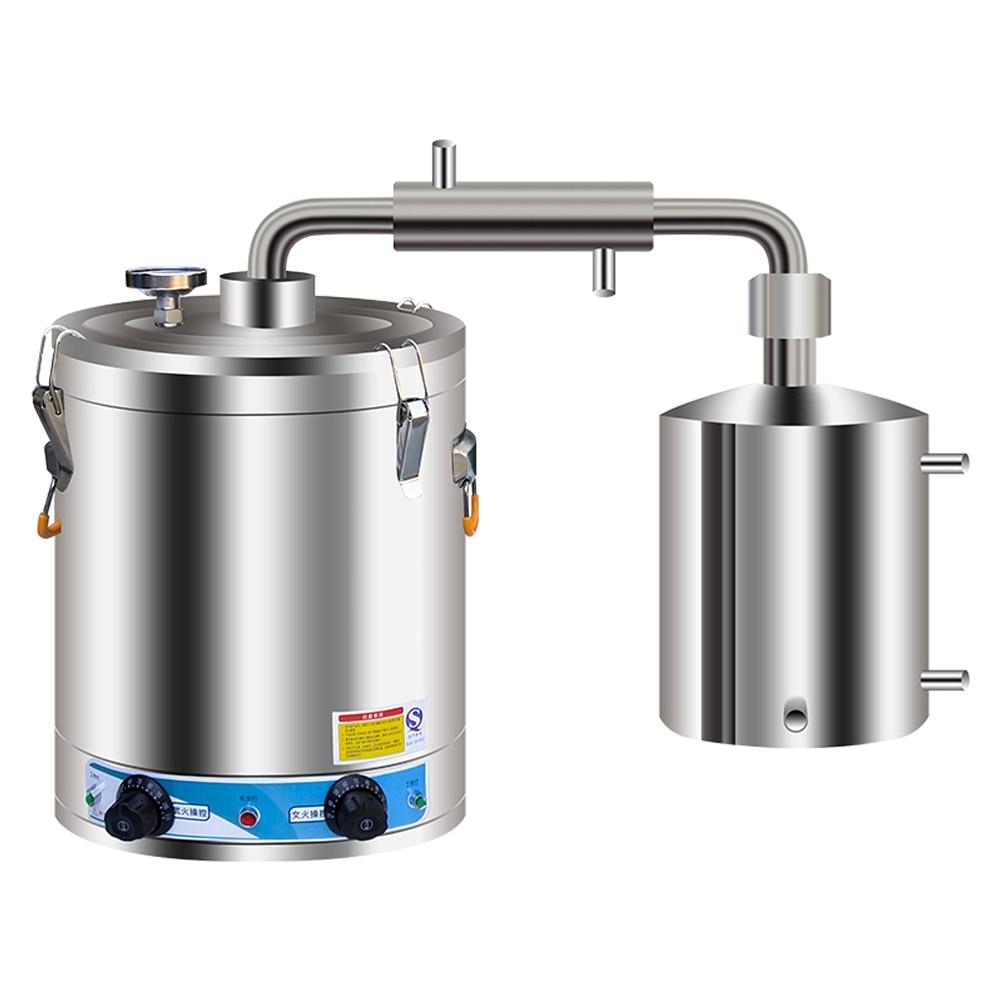 40-60L 220 فولت لتقوم بها بنفسك المنزل Moonshine لا يزال Alembic الأرواح الكحول زيت طبيعي تقطير المياه 304 الفولاذ المقاوم للصدأ مجموعة صنع النبيذ
