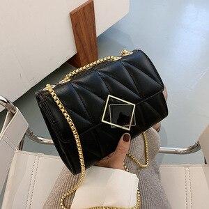 Fashion messenger bag women 2020 new ins chain small square bag high quality leather women's handbag Pu shoulder bag