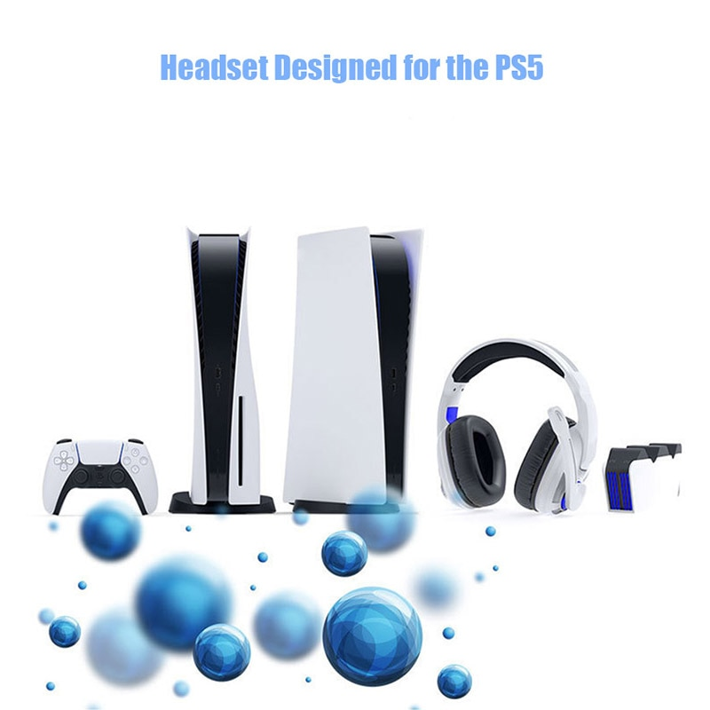 PS5 Headset 3D Stereo Games Headphone Wired Gamer Headphones for TV VR 3D Gaming Accessories for PS5