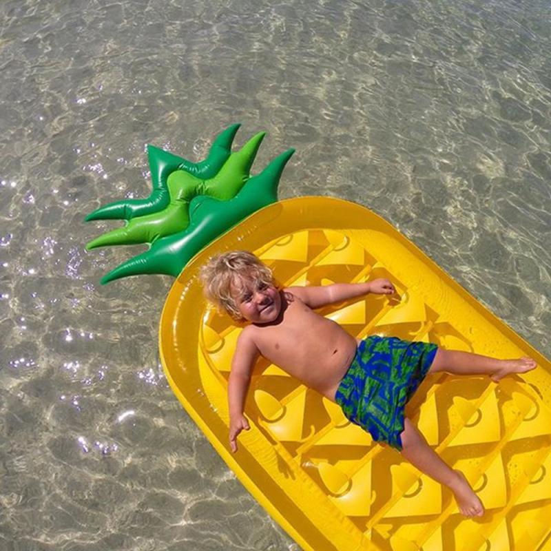 Wasser Float Ring Donut Aufblasbare Riesen Ananas Form Schwimmen Pool Floß Schwimmen Sommer Spaß Wasser Sport Schwimm & Urlaub