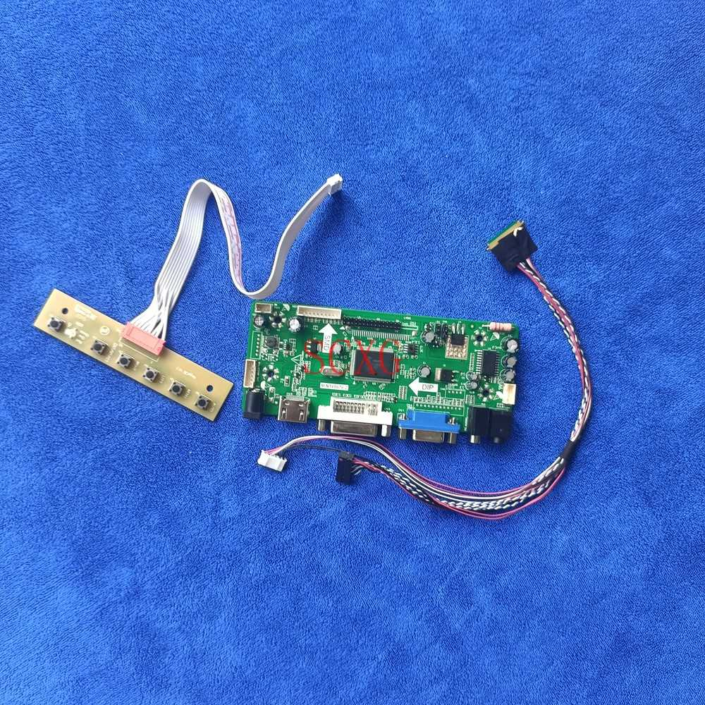 LCD مصفوفة محرك تحكم المجلس لتقوم بها بنفسك عدة ل HT101WSB/LP101WSA 40 دبوس LVDS WLED 60Hz 1024*600 M.NT68676 VGA DVI HDMI-متوافق