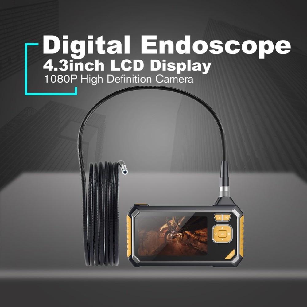 Digitale 1080P LCD 8mm Snake Scope Endoskop inskam112 Wasserdichte Sonde Inspektion Kamera Handheld Boroskop 5m Starre Kabel