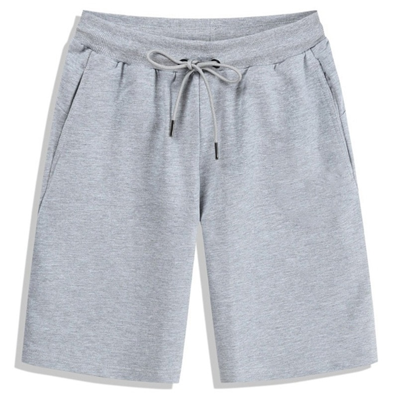 Мужские летние шорты из чистого хлопка, бриджи, повседневные спортивные пляжные бриджи для фитнеса, мужские бриджи