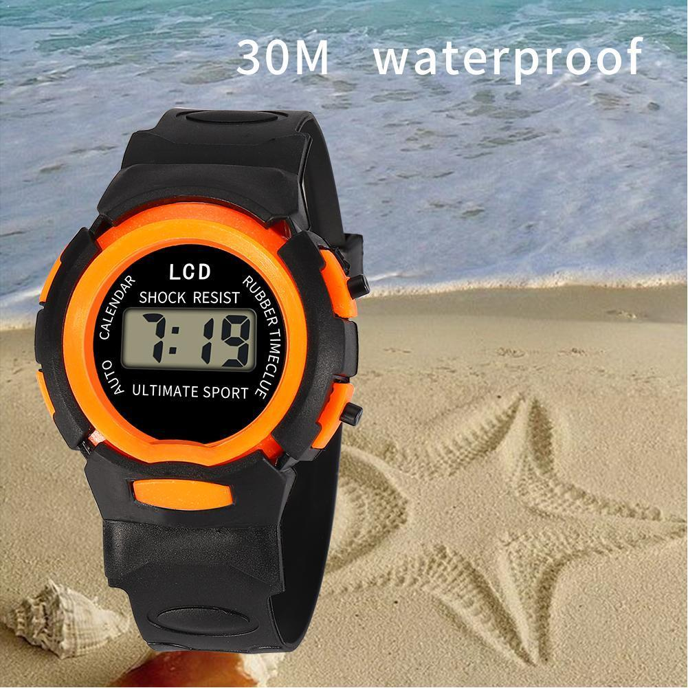 30m Waterproof Kids Watch Led Electronic Digital Dialchildren For Boy Student Girl Wristwatches Spor