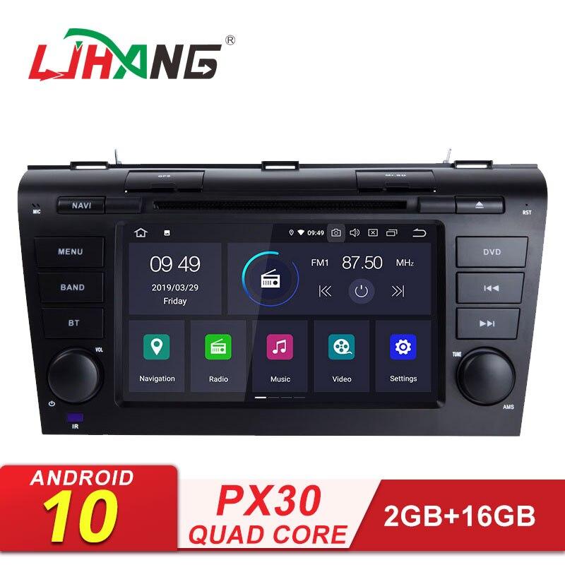 LJHANG 2 Din Android 10 lecteur DVD de voiture pour MAZDA3 Mazda 3 2004-2009 WIFI multimédia GPS Navigation autoradio Audio stéréo vidéo