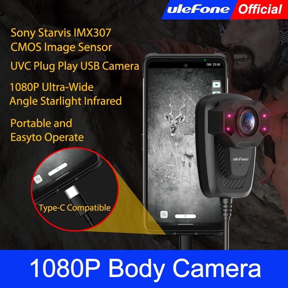 Ulefone 1080P الجسم كاميرا فائقة واسعة زاوية ضوء النجوم الأشعة تحت الحمراء UVC التوصيل اللعب USB كاميرا ل شاومي لهواوي ل Redmi