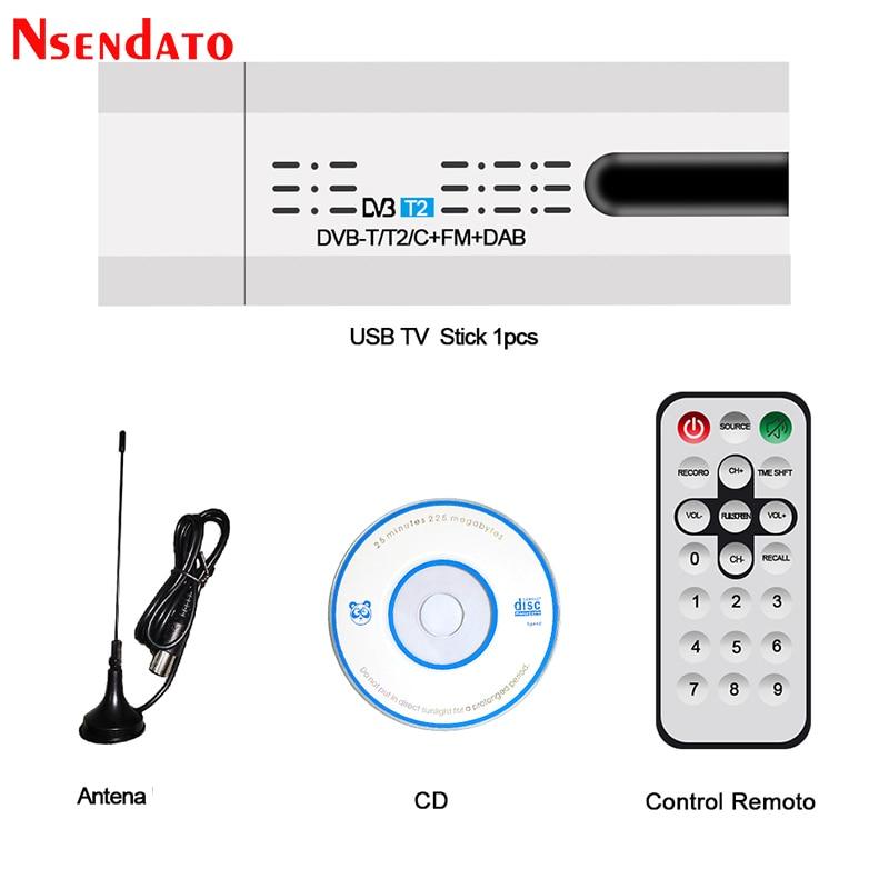 الأقمار الصناعية الرقمية DVB-T2/T DVB-C USB 2.0 TV موالف عصا HDTV استقبال مع هوائي عن بعد التحكم USB التلفزيون دونغل للكمبيوتر ويندوز