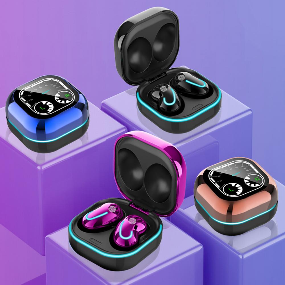 S6 SE Wireless Earphones Waterproof Noise Cancelling ABS LED Indicator Bluetooth Headphones for Smart Phones enlarge