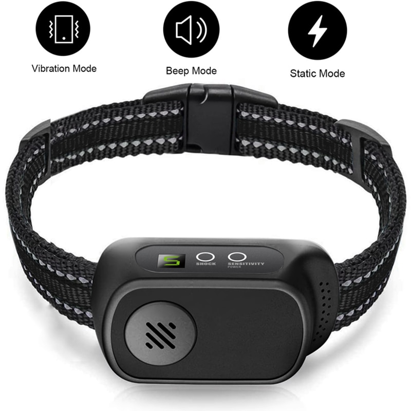 ElectricAnti-Bark Collar Vibration Waterproof Control Electric Dog Training Collar Automatic Pet Ele