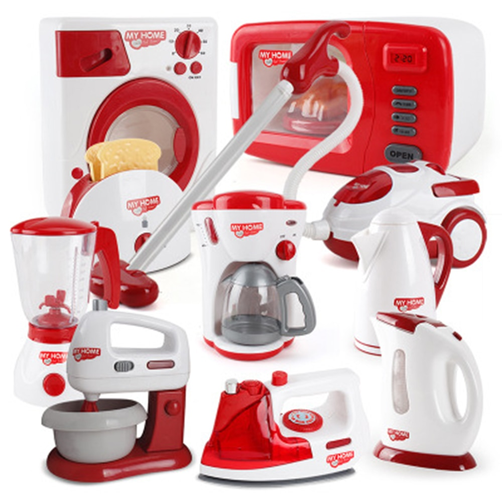 Simulation Household Appliances Toys Pretend Play Kitchen Coffee Machine Blender Kettle Sets Childre